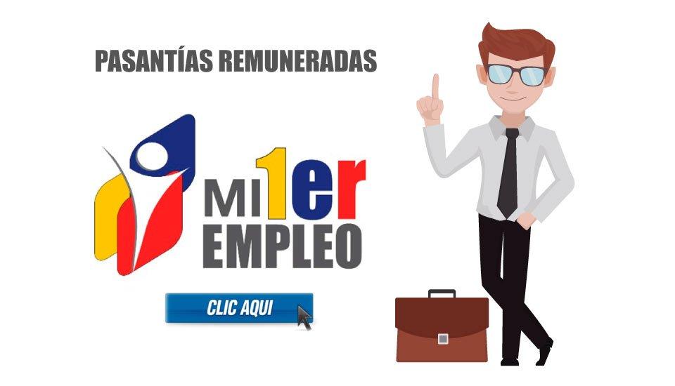 Mi Primer Empleo: Sistema de pasantías remuneradas Ecuador 2019