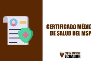 Certificado medico de salud Ministerio de Salud MSP